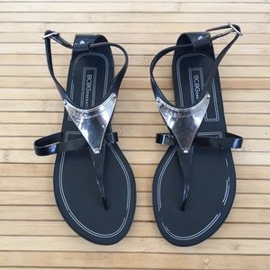 3/$20 BCBGeneration black rubber sandals